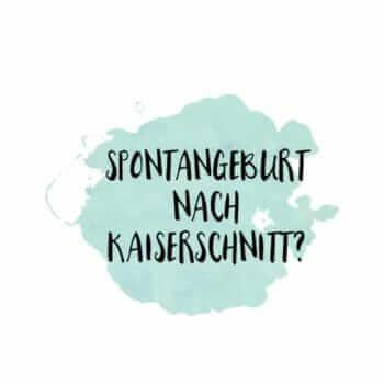 Spontangeburt nach Kaiserschnitt?